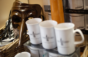 Branded mugs - gift shop - The Real mary Kings close