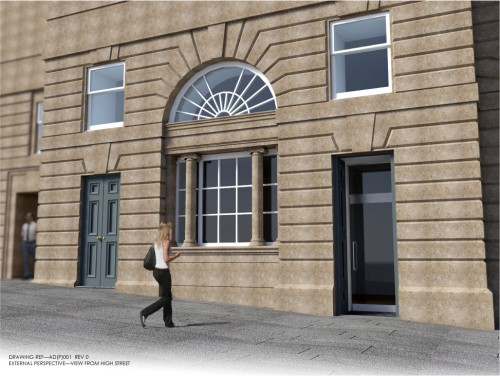 Artist's impression of new entrance for The Real Mary Kings Close