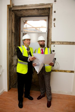 General Manager Craig Miller discussing the redevelopments with the Lord Provost - low res