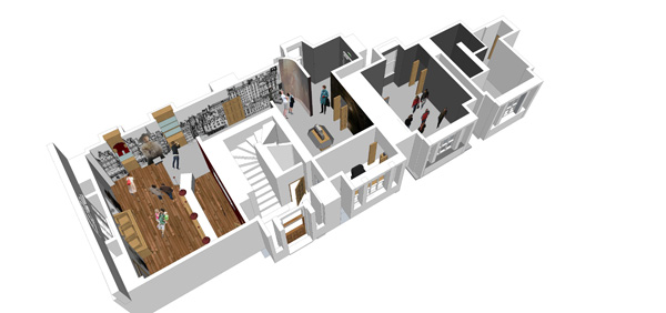 Internal artist's impression of welcome area