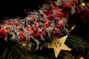 The Real Mary King's Close tartan inspired tinsel one of 25 tree decorations linked to the Close sml