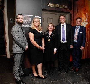Craig Miller, General Manager of The Real Mary Kings Close, Juliana Delaney, CEO of Continuum Attractions, Councillor Angela Blacklock, Andrew Kerr (Chief Exec of Edinburgh Council) and Kevin Smith, Attractions Director at Continuum Attractions