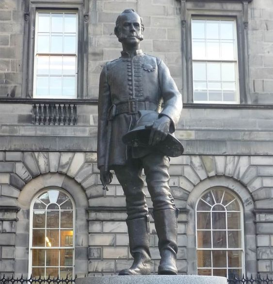 Statue of James Braidwood in Edinburgh