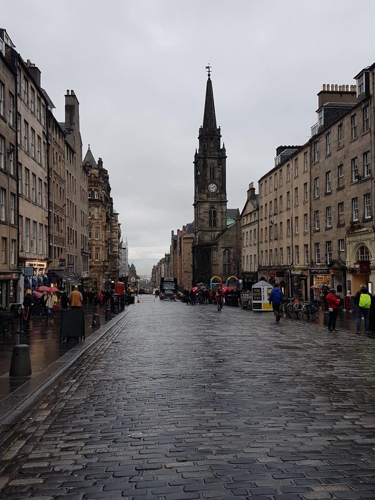The Royal Mile in the present day.