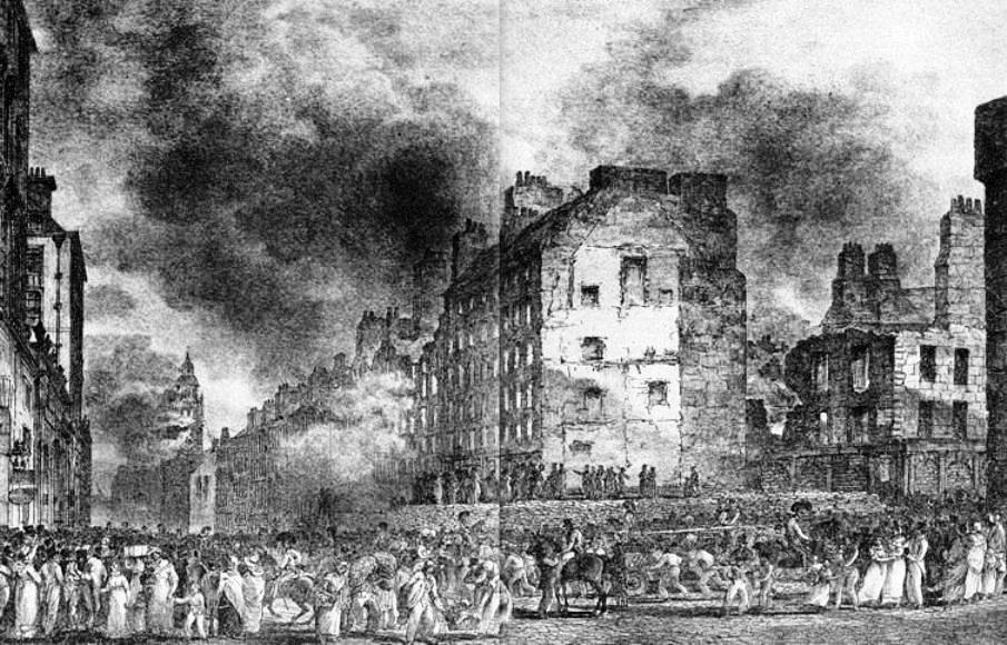 View of the Great Fire of Edinburgh (1824)