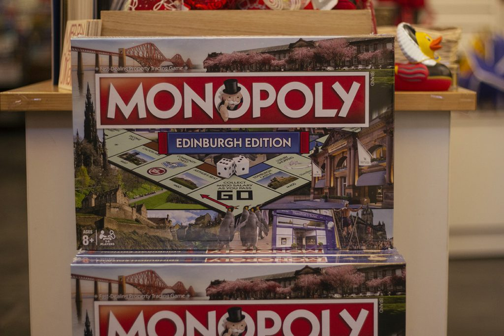 Edinburgh monopoly in The Real Mary Kings Close gift shop