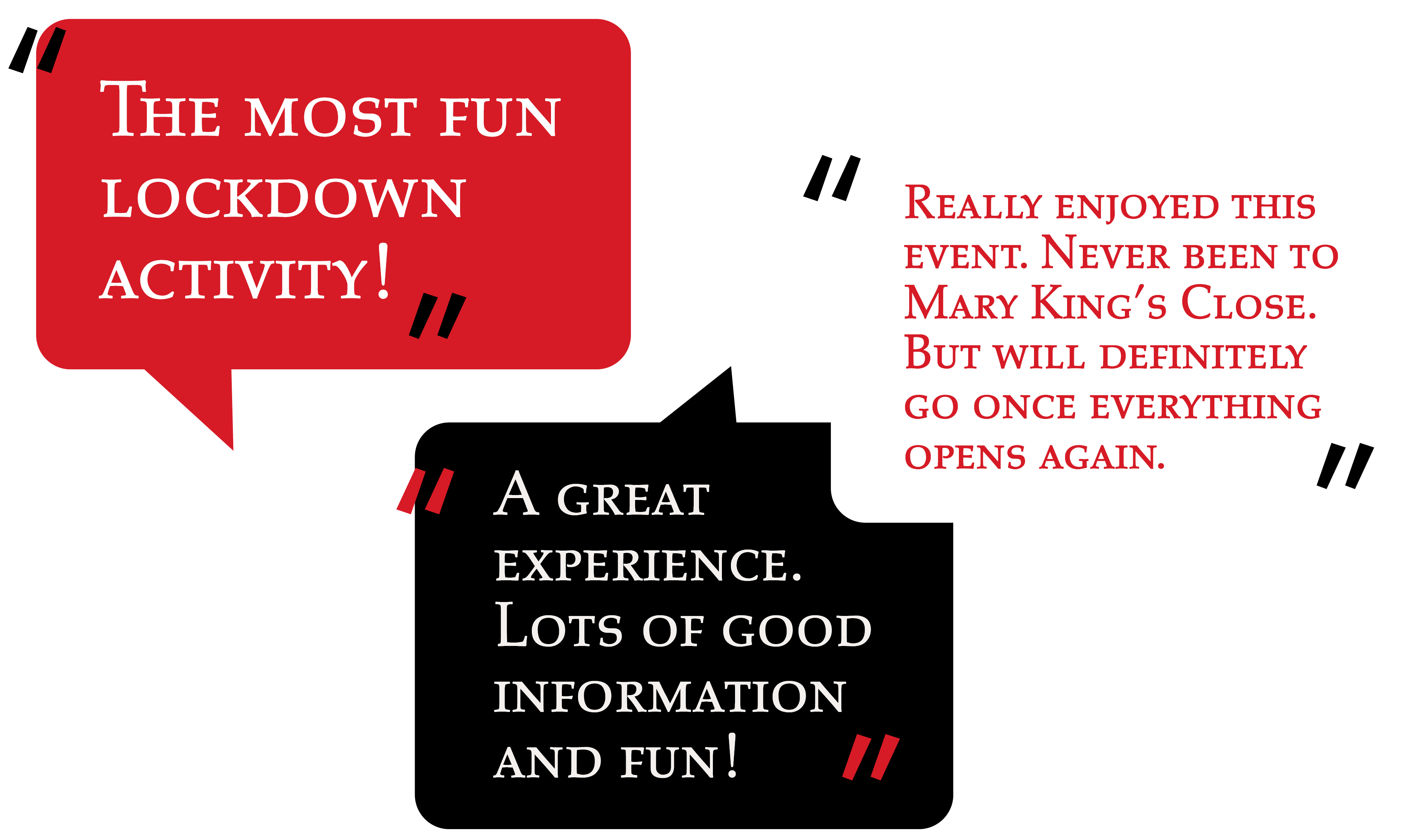 Virtual Tour Feedback - The Real Mary King's Close